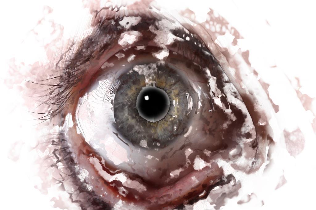 Creative digital art photography of a human eye