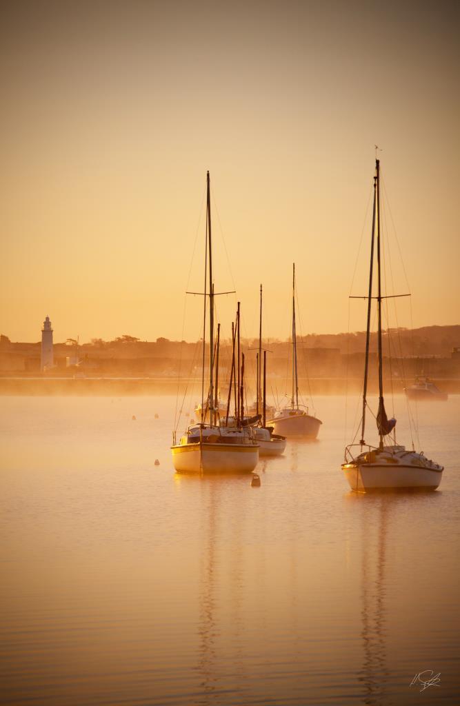 Keyhaven Yacht Sunrise