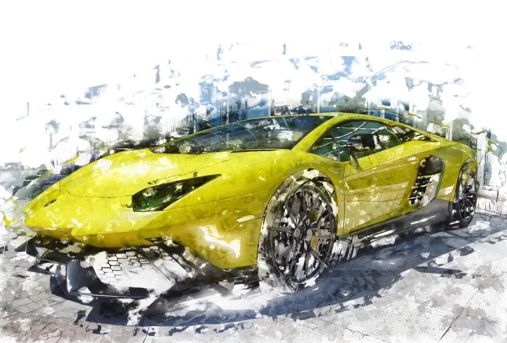Digital art Photography Lamborghini at Monte Carlo