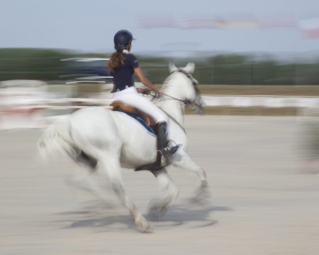Sports Photography action motion blur show jumping photo