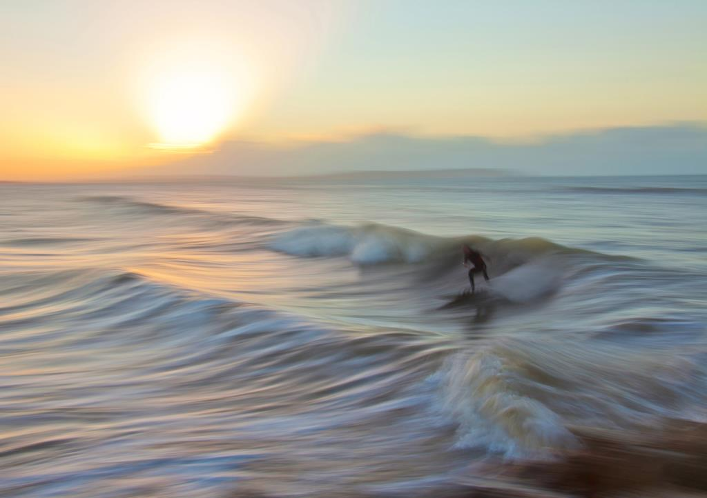 Creative motion blur seascape photography